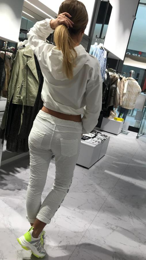 Bluza biała z trzema misiami na przodzie S/M