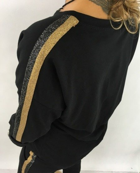 Bluza czarna lampas