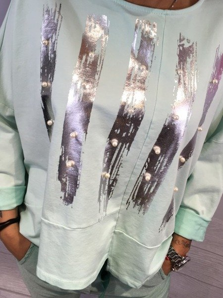 Bluza w srebrne pasy