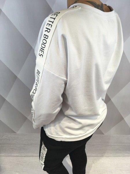 Bluza z lampasem biała