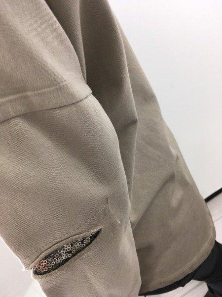 Bluzka beż srebro święta