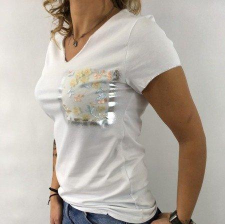 Bluzka biała kieszeń