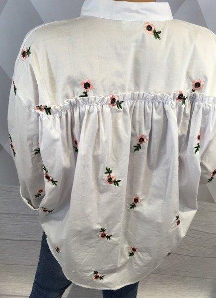 Bluzka biała w kwiaty