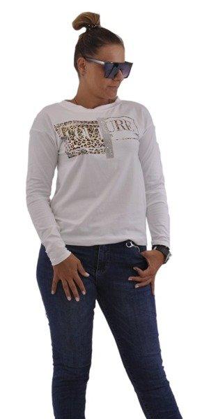 Bluzka biała z aplikacją
