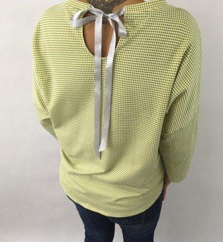 Bluzka cekin kieszeń żółta
