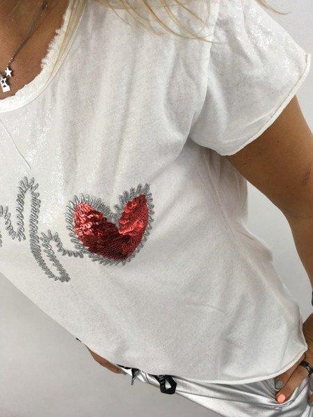 Bluzka czerwone serce