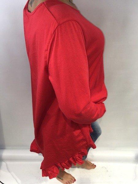 Bluzka falbany czerwona