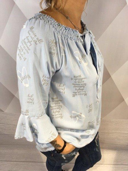 Bluzka hiszpanka z nadrukiem