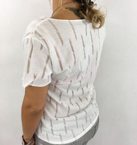 Bluzka kieszeń cekin