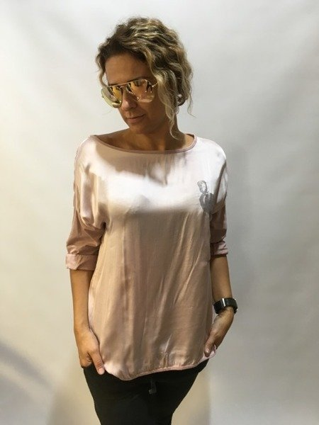 Bluzka różowa z flamingiem