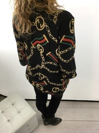 Bluzka świateczna czarna wzór