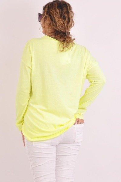 Bluzka żółta w napisy