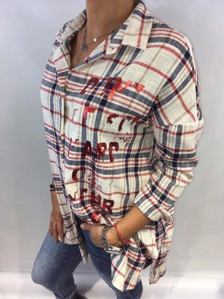 Koszula wiązana krata M.