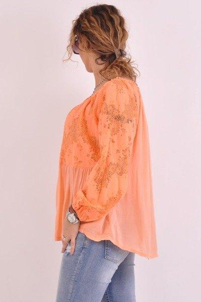Koronkowa bluzka pomarańczowa
