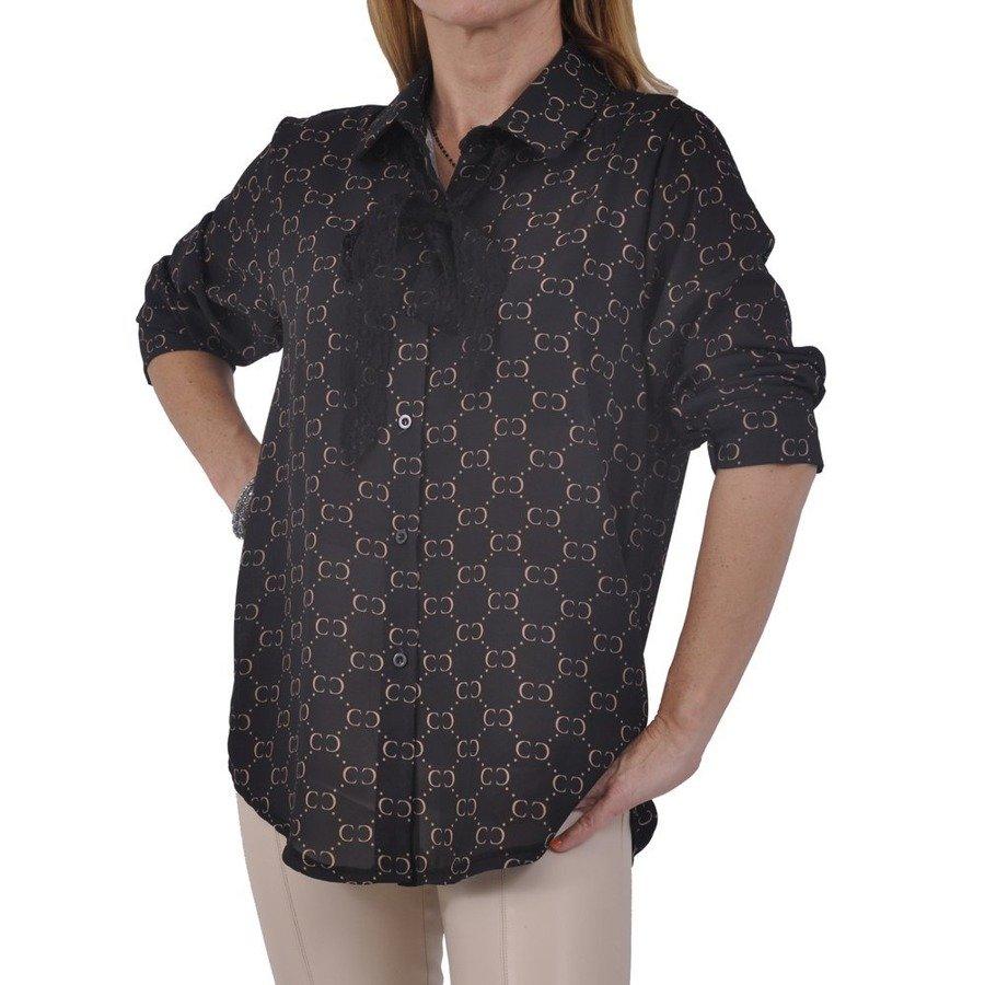 Koszula czarna wzór