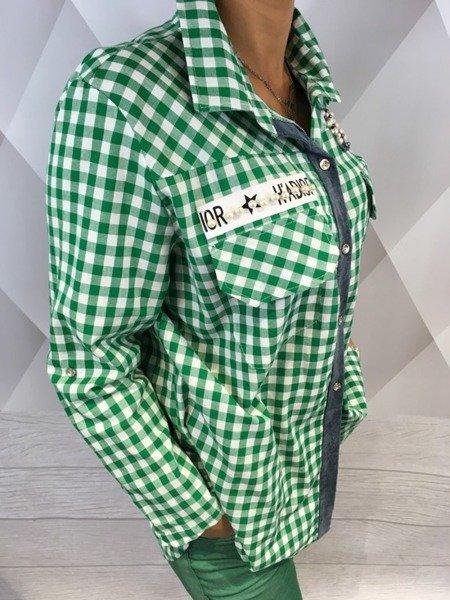 Koszula krata zielona