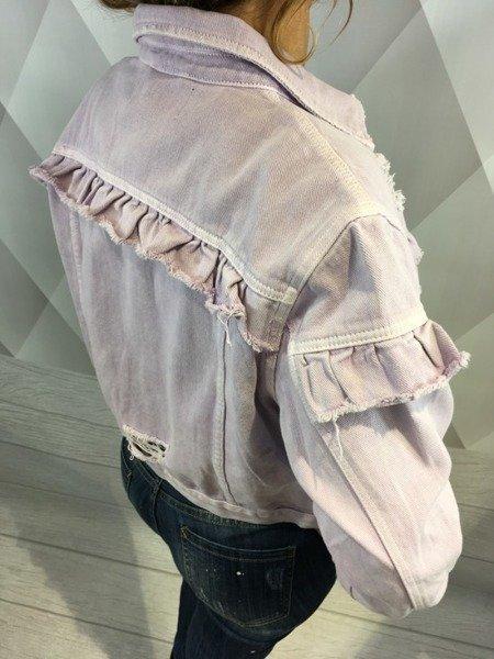 Kurtka jeansowa fioletowa M.