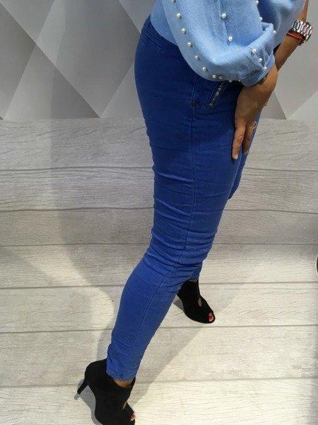 Spodnie chabrowe rurki S.