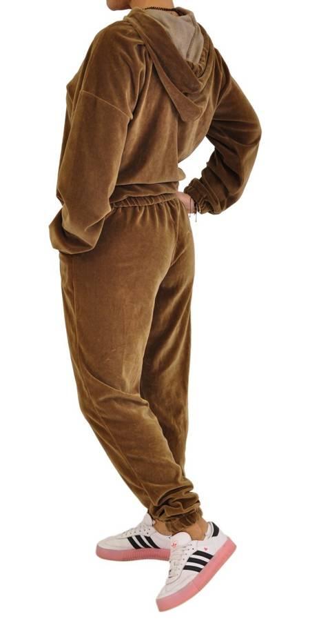 Spodnie camel welur