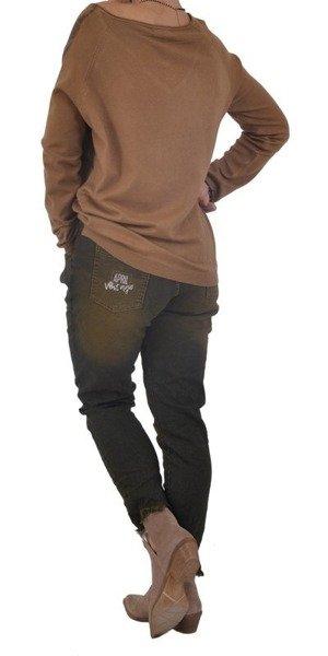 Spodnie cieniowane brąz.