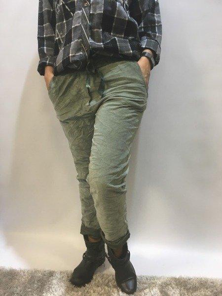 Spodnie dresowe zielone PiuPiu