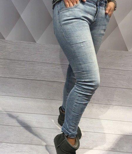 Spodnie jeans szelki