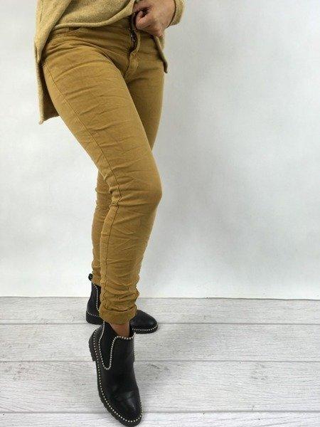 Spodnie miodowe M
