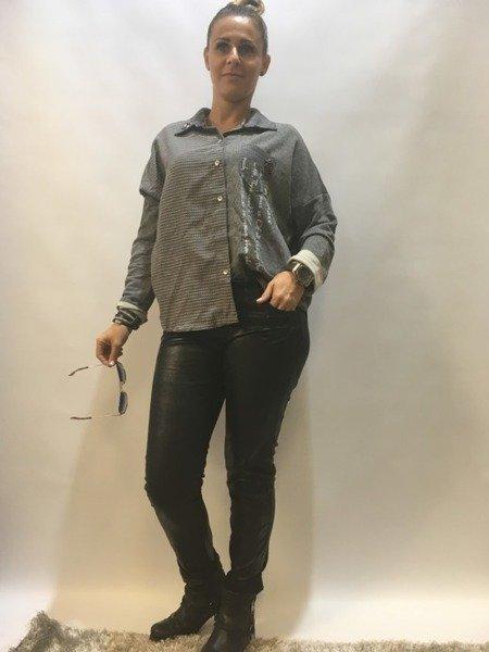 Spodnie z eko skóry czarne S