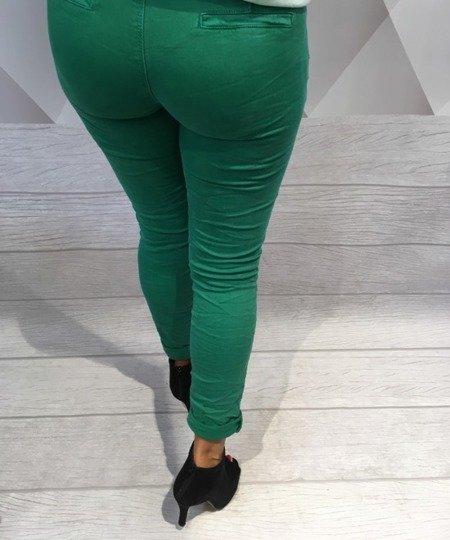 Spodnie zielone rurki M.