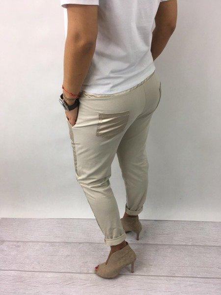 Spodnie złote