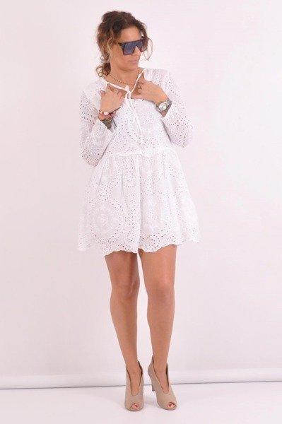 Sukienka-biała-ażur