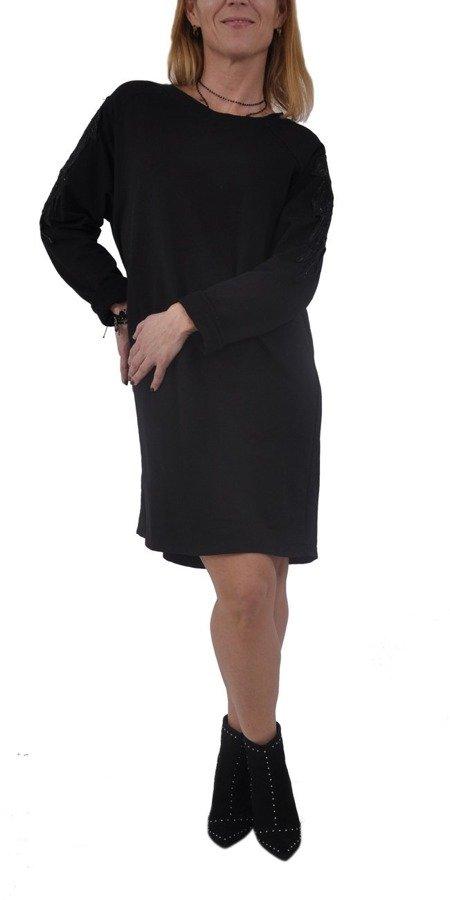 Sukienka czarna bawełna.