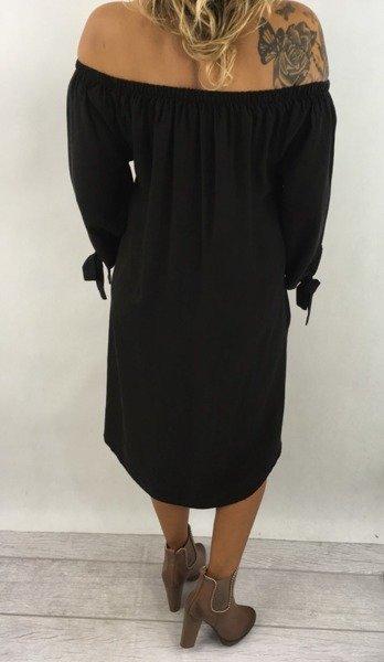 Sukienka czarna z kokardką