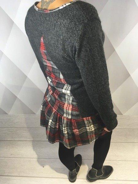 Sukienka melanżowa krata