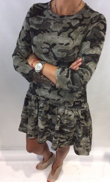 Sukienka moro falbana