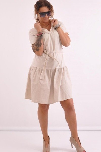 Sukienka safari beżowa