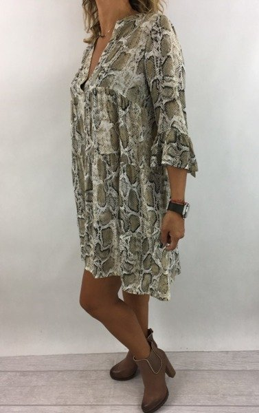 Sukienka skóra węża biała