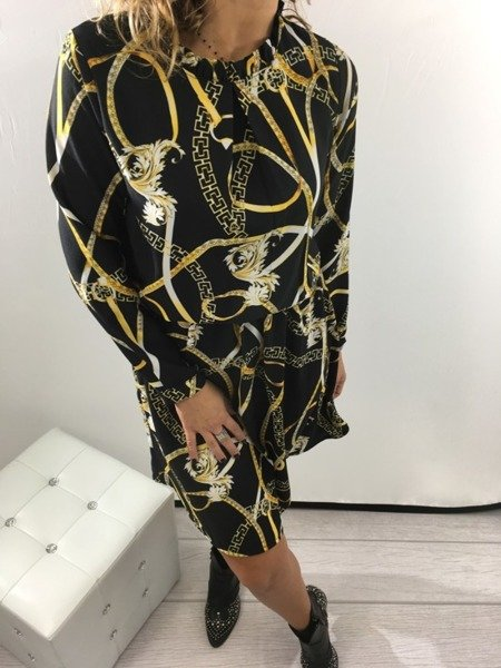 Sukienka świąteczna wzór łańcuch
