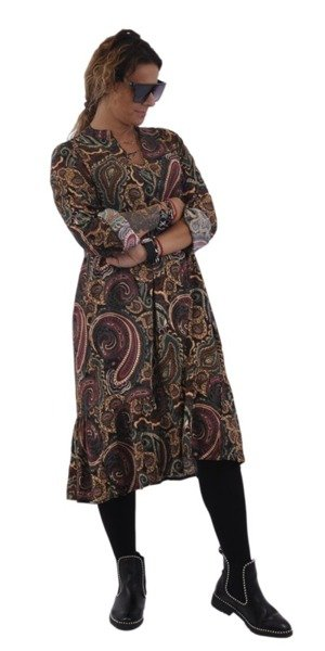 Sukienka wzór bordo