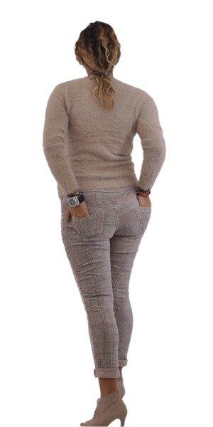 Sweter beżowy z włosem