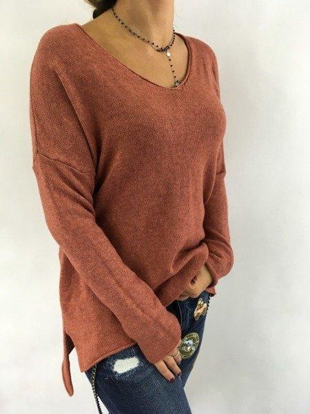 Sweter brąz