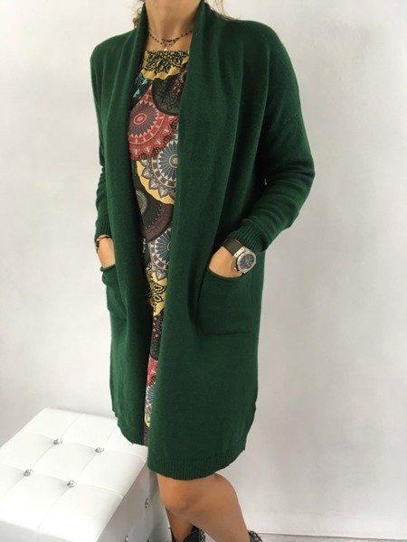 Sweter długi zielony.