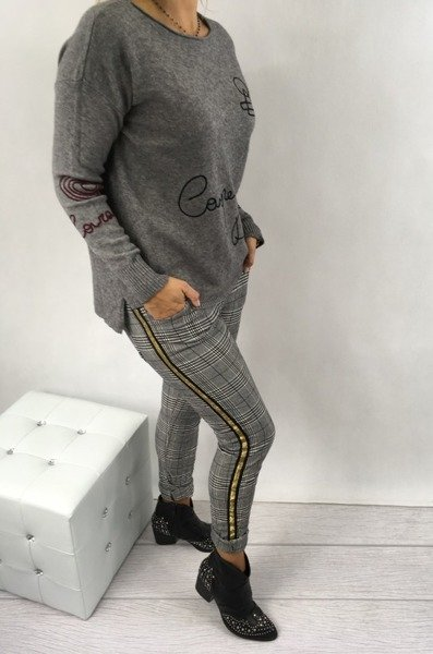 Sweter popiel 123