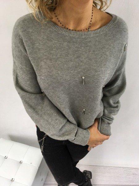 Sweter popielaty sopelki