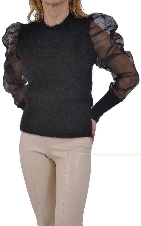 Sweter tiulowy bufki S/M