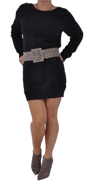 Sweter tunika czarna