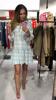 Cudownie miękka sukienka w niebieską kratkę