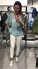 Delikatny i przewiewny niebieski sweterek VINTAGE