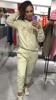Kobieca beżowa bluza z ozdobnym napisem S/M