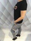 Spodnie bojówki popielate M